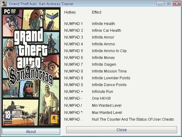 Grand Theft Auto San Andreas Hookup Cheats