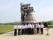 Engineers stand by a Saturn V F-1<br /> engine. (NASA/MSFC) <br /> <a href='http://www.nasa.gov/exploration/systems/sls/multimedia/gallery/f1-5.html' class='bbc_url' title='External link' rel='nofollow external'>View large image</a>