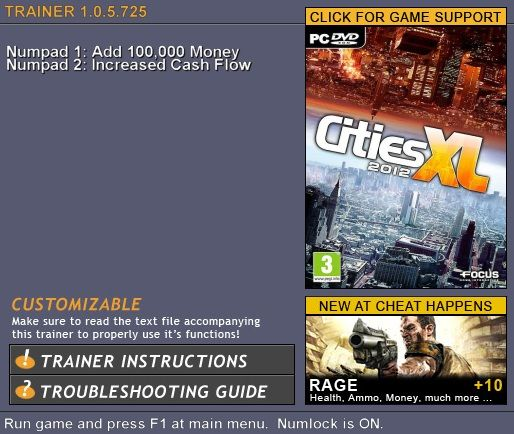5781080948148 Cities XL 2012 v1.0.5.725 +2 Trainer