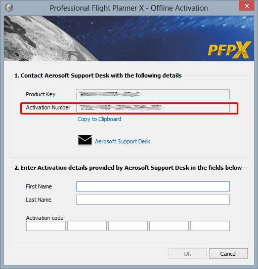 Send the code in the red box to aerosoft/flightsimsoft with a note on ...