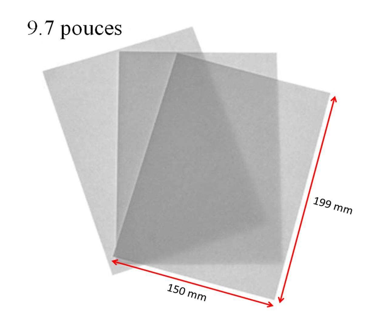 2 films de protections pour tablette tactile 9 7 pouces. Black Bedroom Furniture Sets. Home Design Ideas